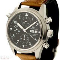 IWC Flieger-Doppelchronograph Ref-3713 Stainless Steel Box...