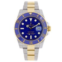 Rolex Submariner Steel & 18K Yellow Gold Blue Dial 2009