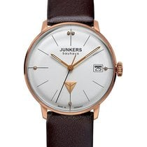 Junkers Bauhaus Lady Swiss Quartz Watch 35mm R/gold Case 3atm...