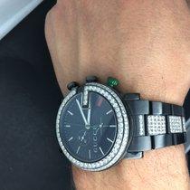 Gucci 101G CHRONO BLACK. App 4.5 carat diamond