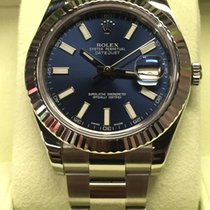 Rolex Datejust II Blue Dial White Gold Bezel