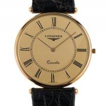 Longines Classique Extraflach 18kt Gelbgold Quarz Armband...