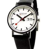Mondaine Classic Big Date 33mm - Stainless - White Dial -...