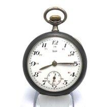 Lip pocket watch - silver case by Huguenin Freres - ca. 1910