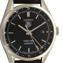 TAG Heuer Carrera Twin Time Stahl Automatik 39mm