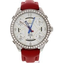 Jacob & Co. Men's . Five Time Zones Diamond Bezel Red...