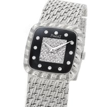 Piaget 18K White Gold 9907 P31, Orig. Diamond & Black Onyx...
