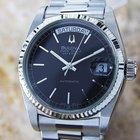 Bulova Super Seville Day Date S.steel Automatic Watch 1980s D21