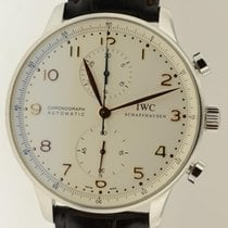 IWC Portuguese 3714 Steel Automatic Chronograph W/ Papers...