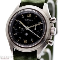 Lemania Vintage Royal Army Ref-818 Stainless Steel Bj-1975