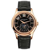 Patek Philippe Annual Calendar Complications Rose Gold Black Dial