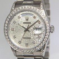 Rolex Day-Date President 18k White Gold Jubilee Diamond...