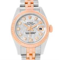 Rolex Datejust Ladies Steel Rose Gold Meteorite Diamond Watch...
