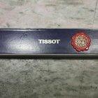 Tissot vintage watch box plastic grey and blu rare