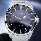 Seiko Solar Quartz Rare Mens Japanese Watch Black Dial 40mm...