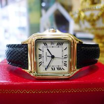 Cartier Panther Panthere Solid 18k Yellow Gold Roman Numeral...