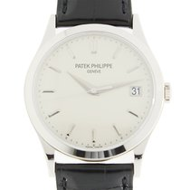 Patek Philippe New  Calatrava 18k White Gold White Automatic...