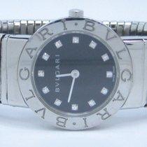Bulgari TUBOGAS Diamonds Dial Steel Lady Watch Box &...