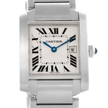 Cartier Tank Francaise Midsize Stainless Steel Ladies Watch...