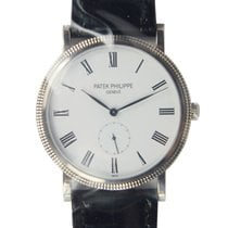 Patek Philippe New  Calatrava White Gold White Manual Wind...