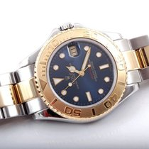 Rolex 35MM 18K/SS Midsize Yachmaster - Blue Marker Dial - 168623