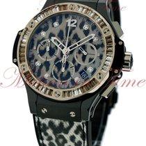 Hublot Big Bang 41mm Snow Leopard, Leopard Diamond Dial,...