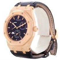 Audemars Piguet Royal Oak Dual Time 18k Rose Gold Watch...