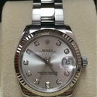 Rolex Oyster Datejust 31mm Steel and White Gold Diamond Dial...