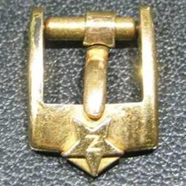 Zenith vintage gold plated  buckle mm 8 little star logo rare
