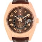 Rolex Sky-dweller Everose Chocolate Brown Rose Gold Mens Watch...