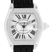 Cartier Roadster Mens Steel Large Silver Dial Watch W62025v3