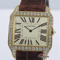 卡地亚 (Cartier) Santos Dumont Diamond Bezel Box Papers Serviced