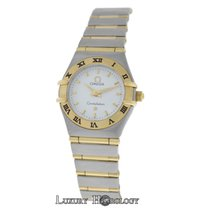 Omega Ladies  Constellation 22mm Two Tone 18K Gold Full Bar