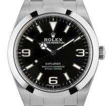 Rolex Explorer I Stahl Automatik 39mm Ref.214270 Box&Pap....