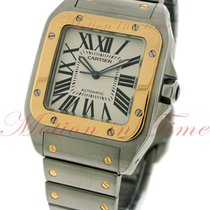Cartier Santos 100 Large, Silver Dial - Yellow Gold &...