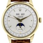Rolex PADELLONE REF. 8171 IN 18ct GOLD -MOONPHASE TRIPLE DAT