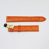 Cartier Krokolederband / Orange 17.5 / 16 Länge 115 / 85