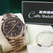 Rolex Cally - Day-Date 40mm 228235 CHOCOLATE INDEX 朱古力條字面