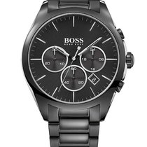 Hugo Boss 1513365 Onyx Chronograph Stahlband schwarz 44mm 5ATM
