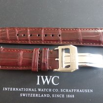IWC deployment buckle with 20mm brown crocodile strap