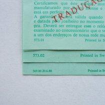 Rolex Libretto Garanzia Int. / NO cosc per Sub 5513