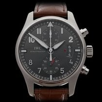 IWC Pilots Chronograph Spitfire Chronograph Stainless Steel...