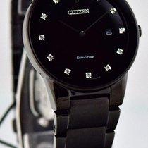 Citizen Axiom Black Dial w/ Diamonds Watch AU1065-58G