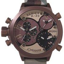 Welder by U-Boat Triple Time Zone Chronograph Brown Mens Sport...