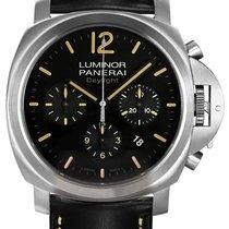 Panerai Contemporary Luminor Chrono Daylight Stainless Steel...