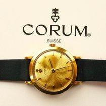 Corum Gelb Gold 18K 750 Elegante Hochfeine  Damen Armbanduhr
