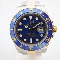 Rolex Submariner Two Tone Diamonds Blue