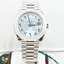 Rolex 40mm Platinum Day Date Watch 228206 Very Rare Dial