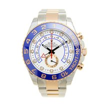 Rolex Yacht Master II 18k Rose Gold And Steel White Automatic...