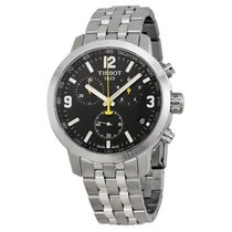 Tissot PRC 200 Chronograph Black Dial Stainless Steel Mens...